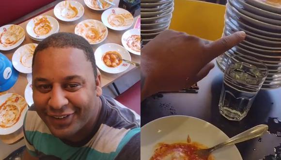 João Carlos Apolonio es un pintor de Brasil cuyo apetito lo hizo famoso gracias a un video viral en el que narraba su experiencia en un tenedor libre que al parecer no lo era tanto. | Crédito: @jcpinturas1.000 / TikTok