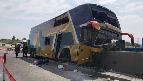 Ocho militantes del Apra mueren en accidente de bus interprovincial. Ellos viajaban desde Piura para acudir al entierro del fallecido ex presidente Alan García. (Fotos: Joseph Ángeles)