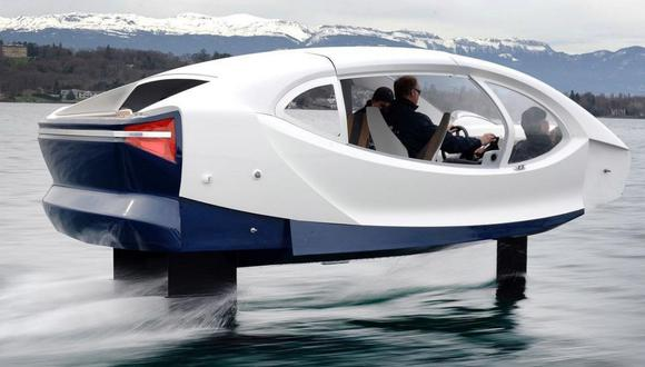 El vehículo de Sea Bubbles alcanza una velocidad máxima de 12 km/h.