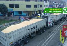 SMP: camiones utilizan calles del distrito como estacionamiento