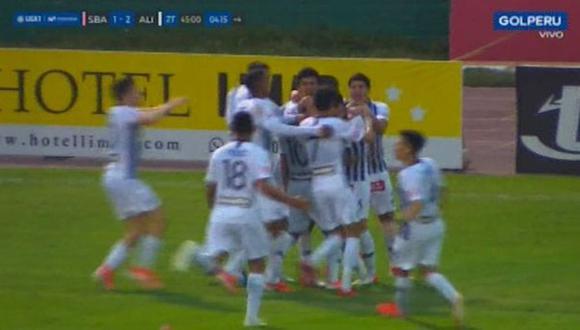 Rodrigo Cuba fue el autor del 2-1 para la victoria de Alianza Lima sobre Sport Boys. El duelo se dio en el estadio Miguel Grau del Callao (Foto: captura)