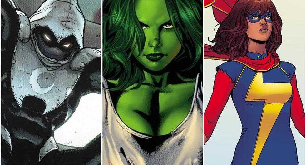 Moon Knight, She-Hulk y Ms. Marvel también aparecerán en las películas del Universo Cinemático de Marvel. (Fuente: Marvel)