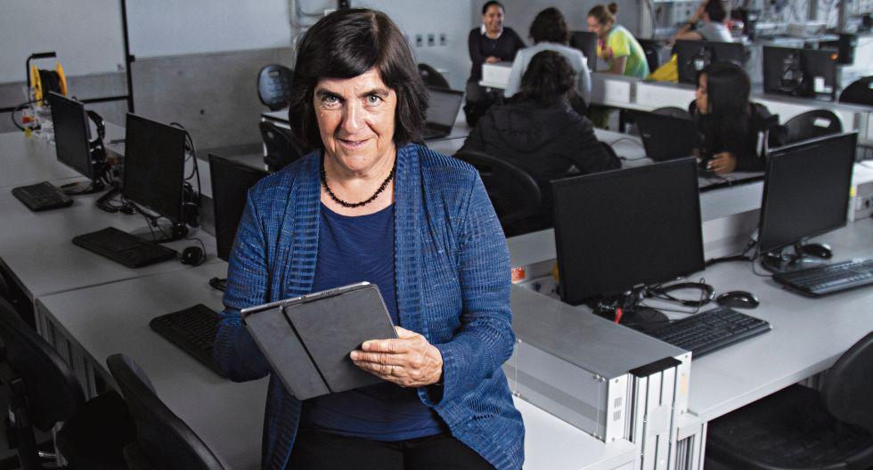 Jennifer Widom, decana de la Escuela de Ingeniería de la Universidad de Standford dio una charla en la UTEC.