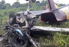Loreto: avión de carga se incendia tras aterrizaje forzoso en aeropuerto de Iquitos