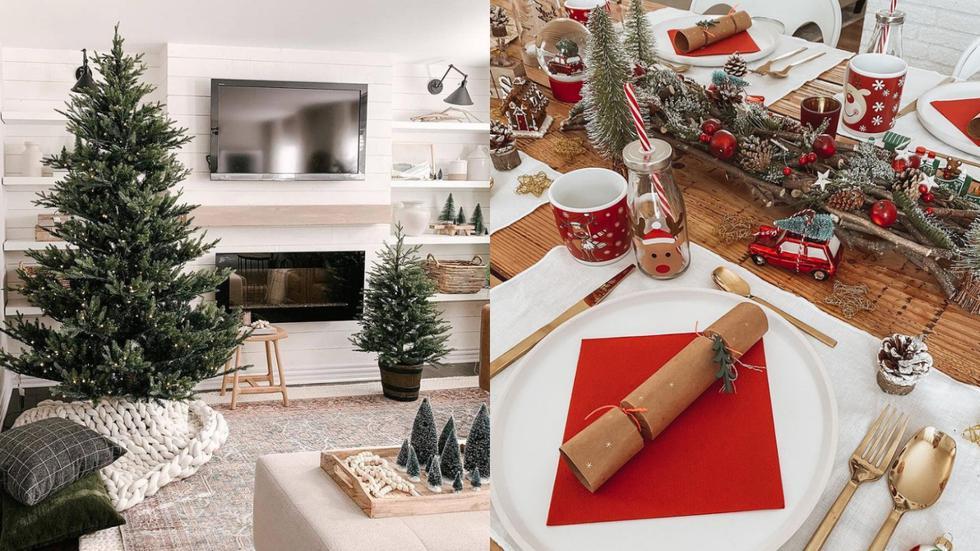 Para empezar a decorar tu hogar con el espíritu navideño, el primer paso es definir el estilo que quieres llevar. Todos los ambientes deberán apuntar a la misma dirección para así,  crear una casa bien balanceada. (Fotos: IG @houseofhire/ @aventuremaisondeco)