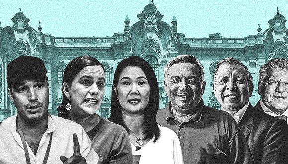Este lunes se realizó la primera fecha de los debates presidenciales organizados por el JNE (Composición: El Comercio)