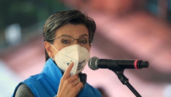 La alcaidesa de Bogotá, Claudia López, anunció que dio positivo al coronavirus. (Foto de archivo: Daniel Munoz/ AFP)