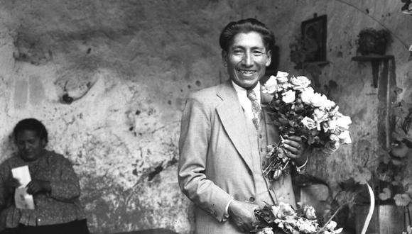 Fotógrafo Martín  Chambi y su esposa Manuela López, en poco conocida instantánea de la pareja (Foto: Martín Chambi).
