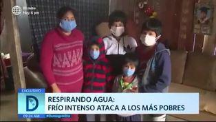 Frío intenso ataca a la población vulnerable