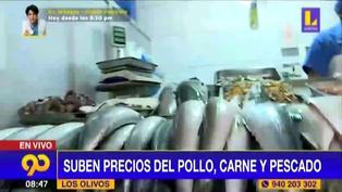 Los Olivos: Incrementa el precio de pescado, pollo y carne