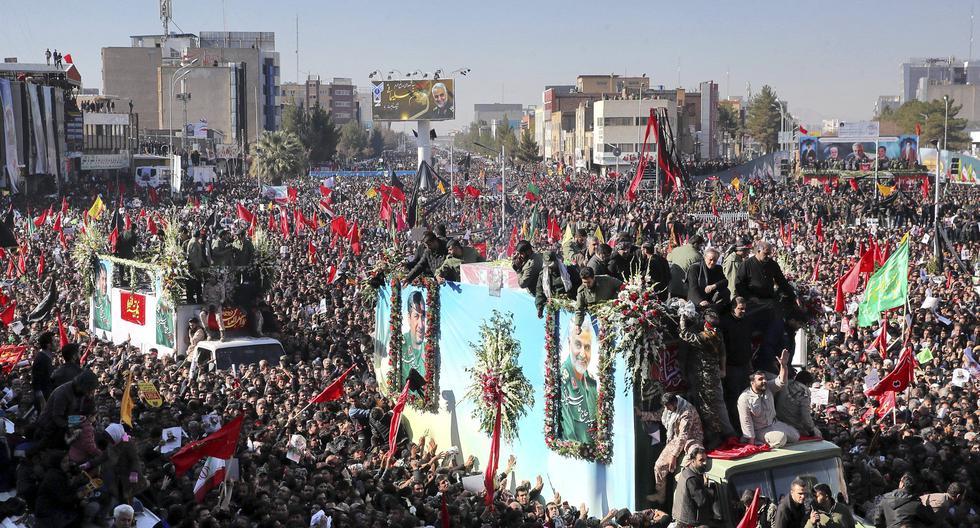 Qasem Soleimani muerto: estampida en funeral del general asesinado por Estados Unidos deja más de 50 muertos en Kerman. Foto : AP