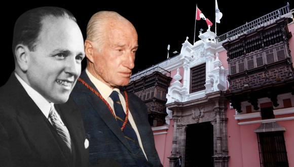Historiadores y diplomáticos: Raúl Porras Barrenechea y Guillermo Lohmann Villena (Fotocomposición: El Comercio)