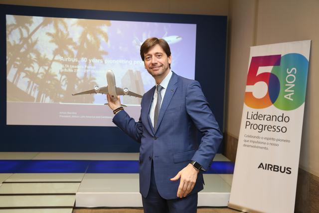 Arturo Barreira, presidente de Airbus para Latinoamérica y El Caribe.