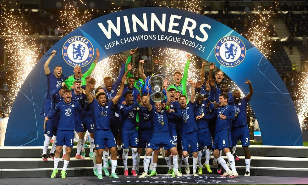 Celebración del Chelsea con el título de la Champions League   Foto: @ChelseaFC_Sp