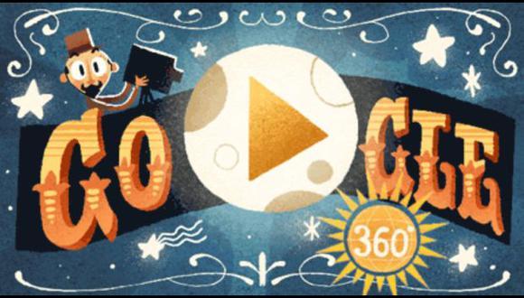 Esta es la presentación del doodle que Google dedica a Georges Méliès. (Foto: Google)
