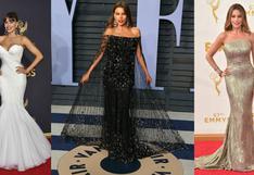 Sofía Vergara cumple 48 años: 4 claves de su estilo sobre la alfombra roja   FOTOS