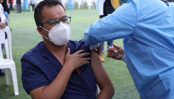 El proceso de vacunación para el personal de salud inició el pasado 9 de febrero. (Foto: Archivo GEC)