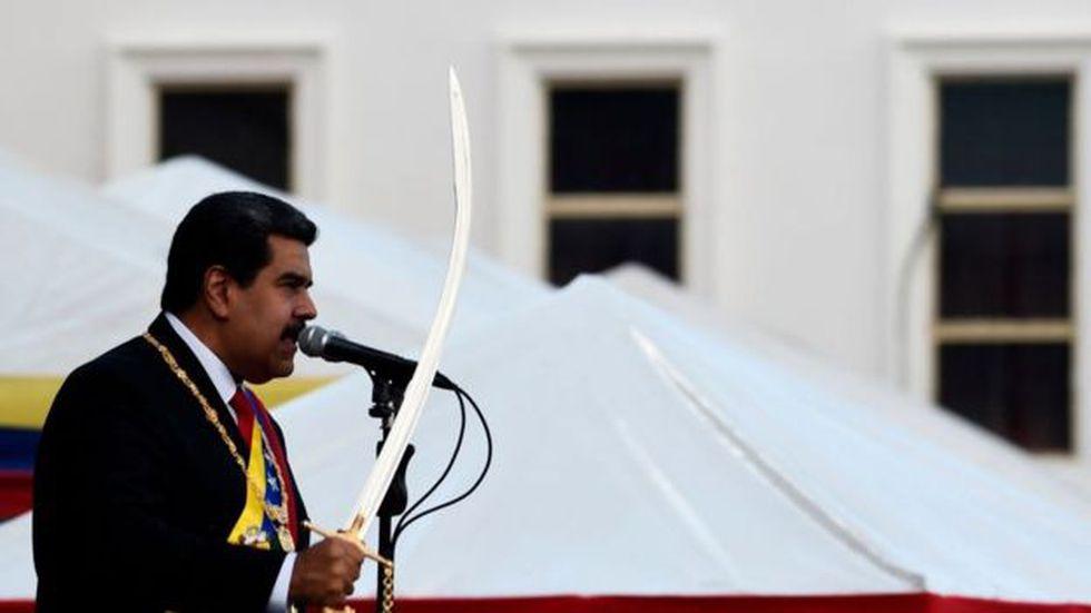 """El presidente venezolano calificó el intento de la oposición como """"un golpe de estado"""". Foto: Getty images"""