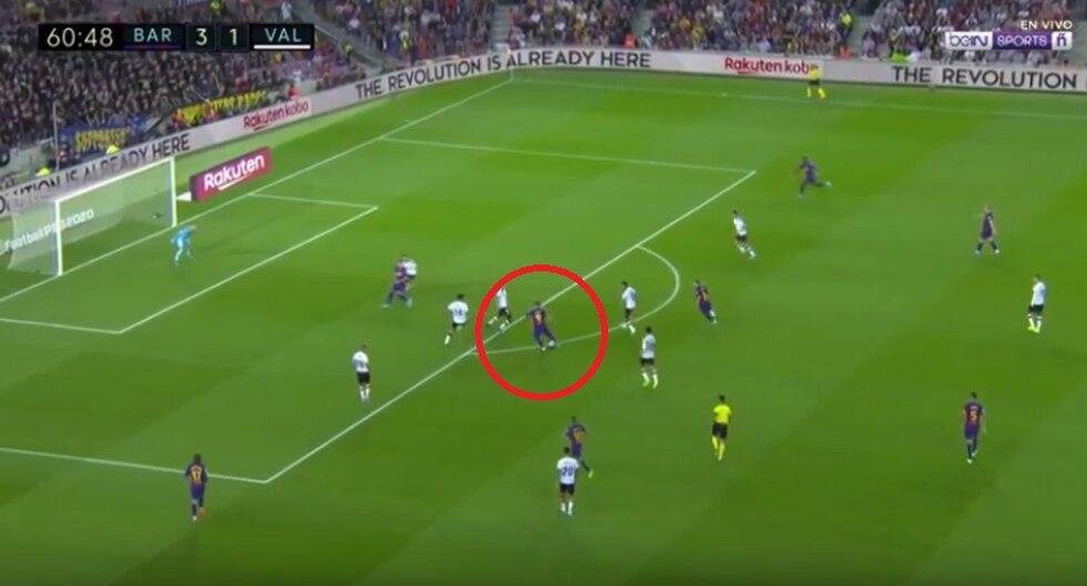 Luis Suárez convirtió el 4-1 en el Camp Nou | Foto: Captura