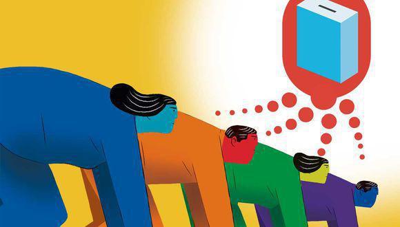 Son más de 20 las agrupaciones políticas que aspiran a competir en el proceso de 2021. ¿Llegarán todas a la meta? (Ilustración: El Comercio)