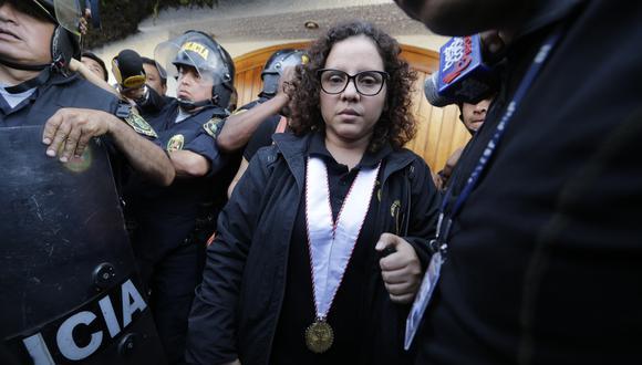 Fiscal contra el crimen organizado Rocío Sánchez. Es una de las dos fiscales que inició la investigación por el Caso Los Cuellos Blancos del Puerto.