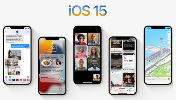 iOS 15. (Imagen: Apple)