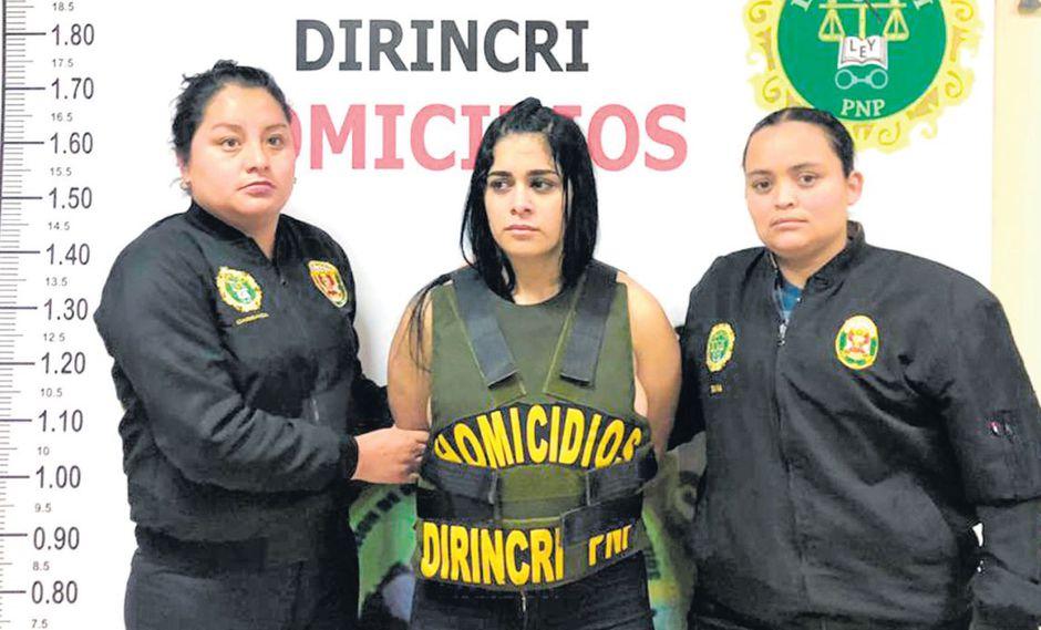 Verónica Montoya, quien vino al Perú tras matar a una persona en Venezuela, fue detenida el sábado (PNP)