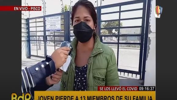 La mujer denunció la escasa respuesta sanitaria de Ica. (Foto: Captura Panamericana)