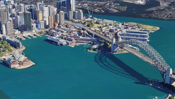 La ópera de Sydney, en Australia, y en 3D. (Foto: Google)