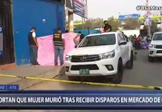 Asesinan a balazos a mujer en los alrededores del mercado de Ceres en Ate | VIDEO
