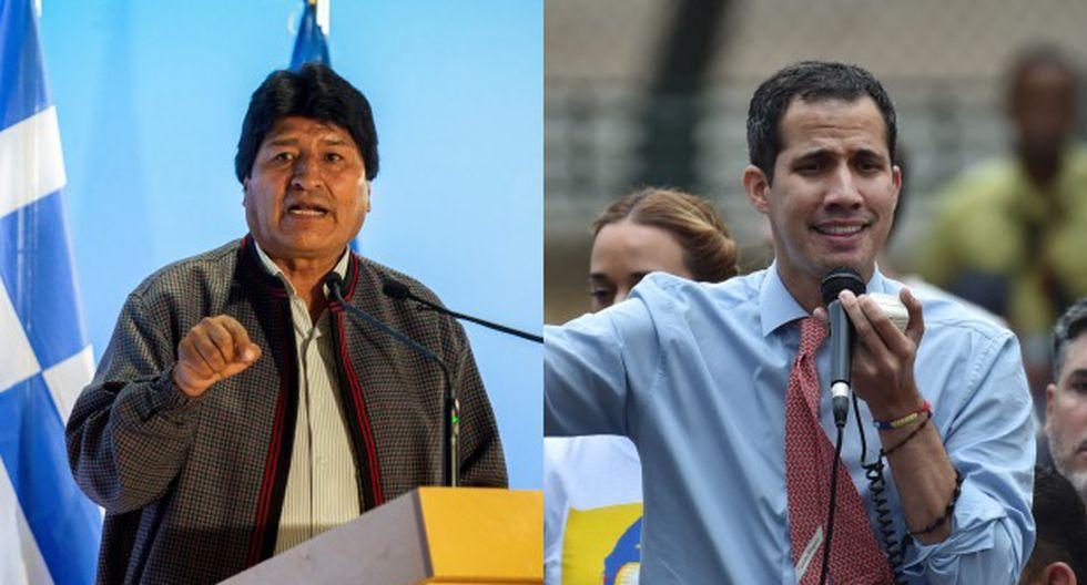 """A inicios de este mes, en un mensaje que divulgó en redes sociales, Evo Morales se había referido a Juan Guaidó como """"un virrey colonial"""". (Foto: AFP)"""