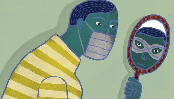 """""""Hoy no tenemos espejos de plata o máscaras de oro y cada uno de nosotros podemos ser reyes o poetas o mendigos según las circunstancias y puntos de vista"""". (Ilustración: Víctor Aguilar)"""