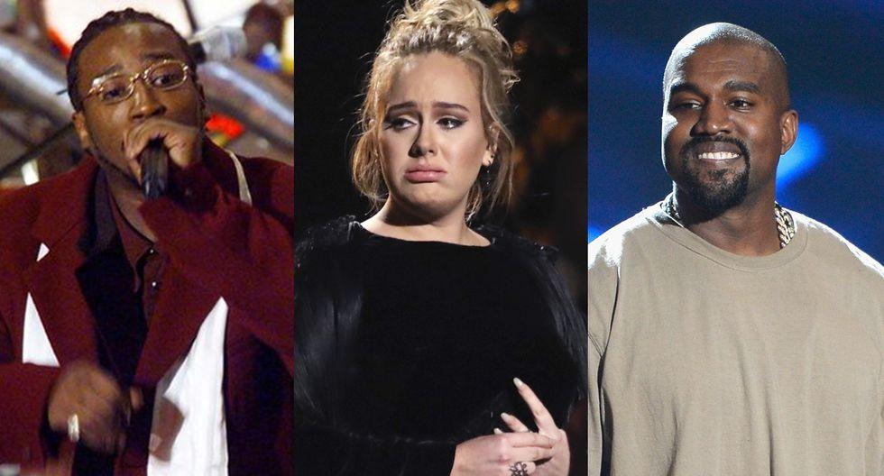 Ol' Dirty Bastard, Adele y Kanye West protagonizaron vergonzosos momentos en la historia del Grammy. (Foto: Difusión/Agencia)