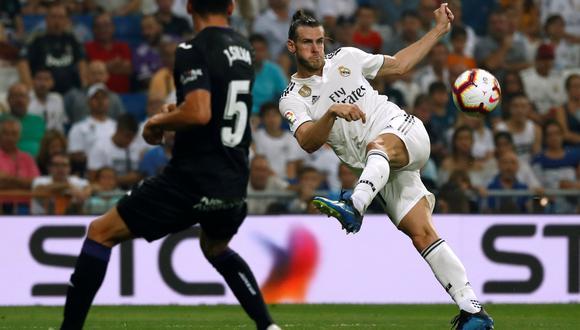 Real Madrid vs. Leganés: Gareth Bale anotó golazo de volea en el Bernabéu. (Foto: AFP)
