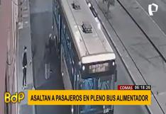Comas: tres malhechores armados asaltaron pasajeros de bus del Metropolitano