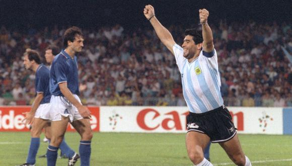 Diego Maradona vivió un episodio especial en el Argentina vs. Italia del Mundial 1990   Foto: AFP
