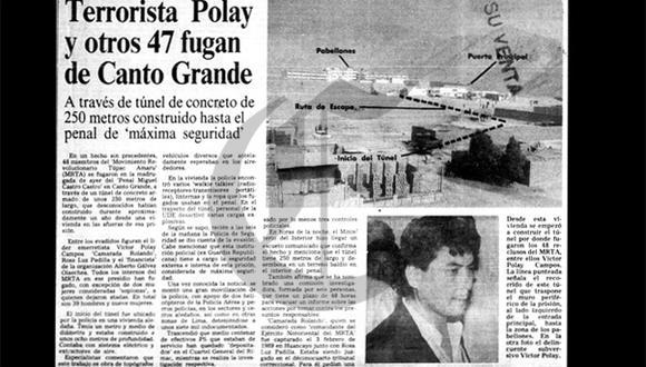 Así ocurrió: En 1990 fugan reos del MRTA de penal Castro Castro