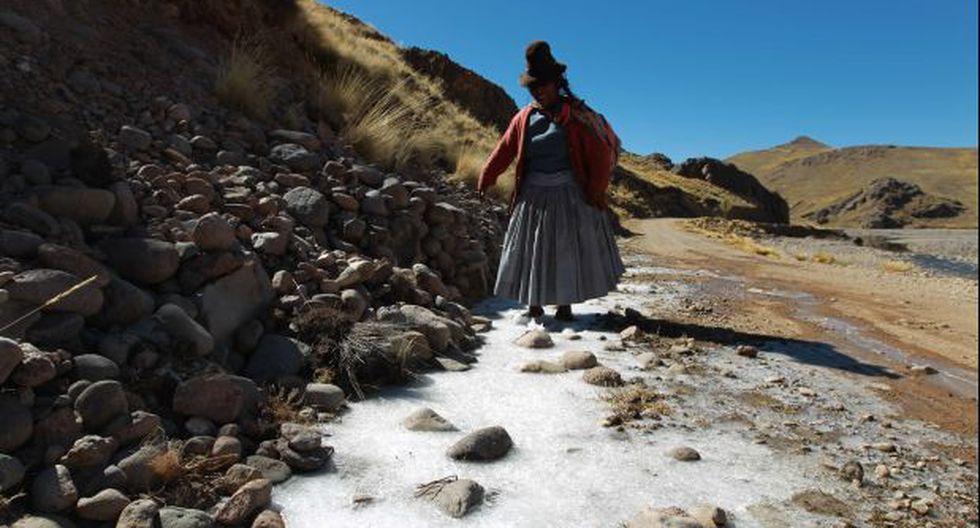 Heladas: Entregan kits de abrigo en Puno