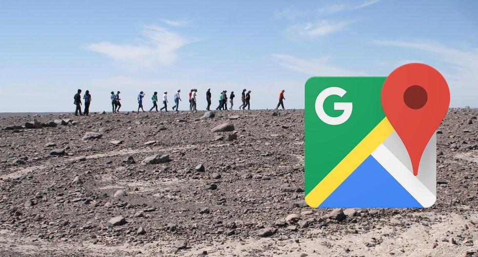 Hicieron zoom en Google Maps al desierto de Tarapacá, en Chile, y hallaron tremendo detalle. (Foto: Google)