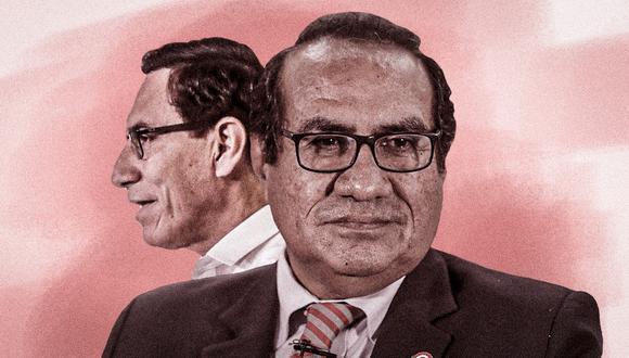 El presidente Martín Vizcarra se refirió a al renuncia de su asesor Óscar Vásquez. (Composición: El Comercio)