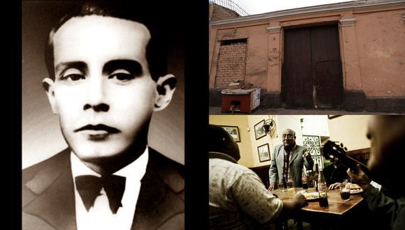 En sentido horario Felipe Pinglo, la casa donde vivió en Barrios Altos y músicos criollos en el bar Queirolo. (Fotos: Archivo de El Comercio)