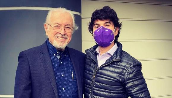 Bruno Pinasco junto a su padre tras un año y tres meses de no haberse visto. (Foto: @brunopinasco).