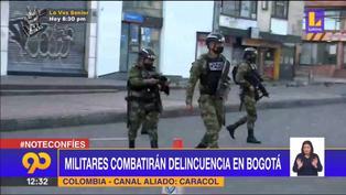 Colombia: Militares combatirán la delincuencia en Bogotá