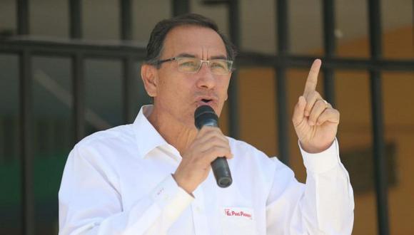 Martín Vizcarra prefirió no ahondar en sus declaraciones sobre Toledo para que no se interprete como una intromisión política. (Foto: GEC)