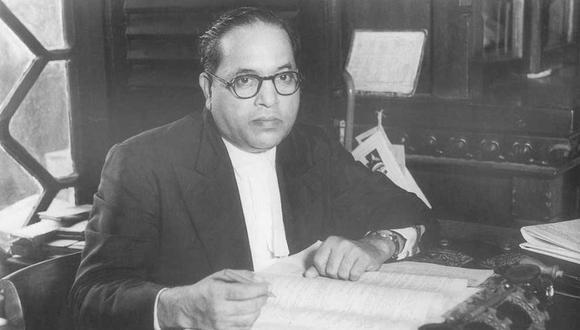 """El prestigioso constitucionalista Babasaheb Ambedkar (1891-1956) es recordado como el """"padre de la Constitución de la India"""". (B. R. Ambedkar)"""