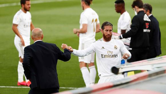 Zinedine Zidane mostró su preocupación por la renovación de Sergio Ramos | Foto: REUTERS