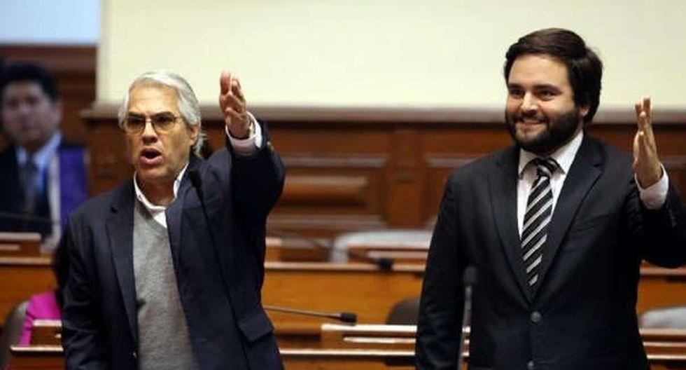 Gino Costa y Alberto de Belaunde buscan regresar al Congreso en las filas del Partido Morado. (Foto: Congreso de la República)