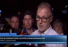 """Jorge Muñoz sobre explosión en Villa El Salvador: """"Esa máquina (cisterna) tenía problemas serios"""""""