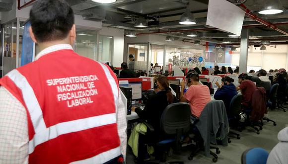 La Superintendencia Nacional de Fiscalización Laboral detectó alto grado de informalidad en call centers (Foto: Sunafil).