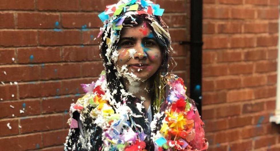 Imagen de la activista Malala Yousafzai celebrando su graduación de Oxford, el 18 de junio de 2020. (Malala Yousafzai / @MALALA/via REUTERS).